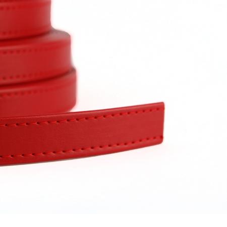 Pasek z ekoskóry z metra- szer. 19 mm- czerwony