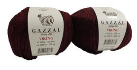 Włóczka GAZZAL VIKING - 4015- BORDOWY