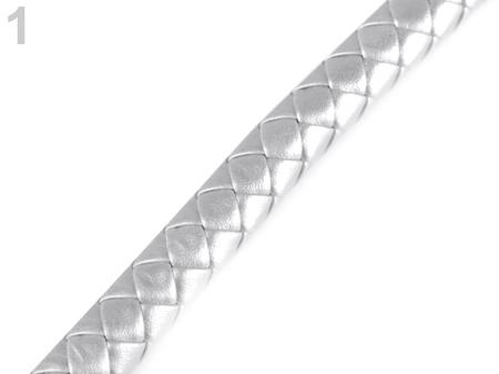 Pasek pleciony do torby Ø12 mm- półprodukt- srebrny (1)