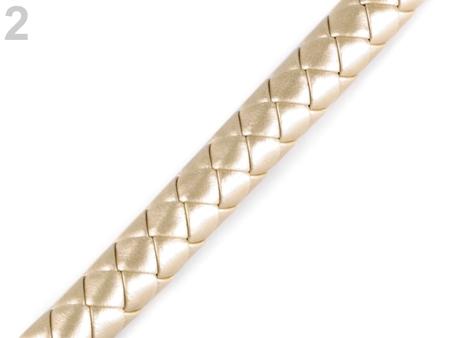 Pasek pleciony do torby Ø12 mm- półprodukt- złoty (1)