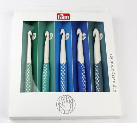 Zestaw ergonomicznych szydełek w rozmiarach od 7 do 12 mm